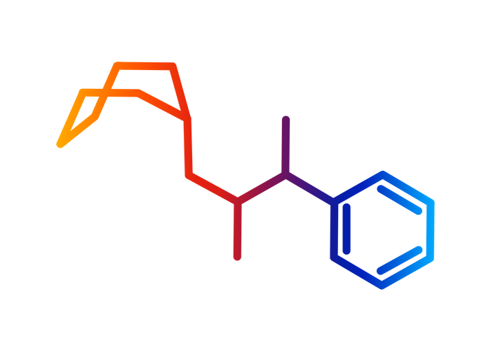 Datura chemical structure graphic - color