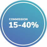 Commission rate (15-40%)